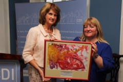 Joan Burton and Anne Genockey