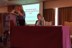 Anne Genockey, An Cosan and Chair of CDIs ATTI committee opens the seminar on infant mental health.