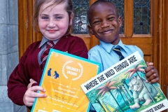 Celebrating after the Graduation Ceremony of the Doodle Den Literacy Progamme which ran in six Limerick Primary Schools this year are Ashley Ryan from Corpus Christi and Victor Anochie from St Munchins, Ballynanty.