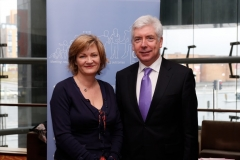 Marian Quinn, CDI CEO, with Alex White, TD, Minister for State, at CDIs seminar on primary care service delivery